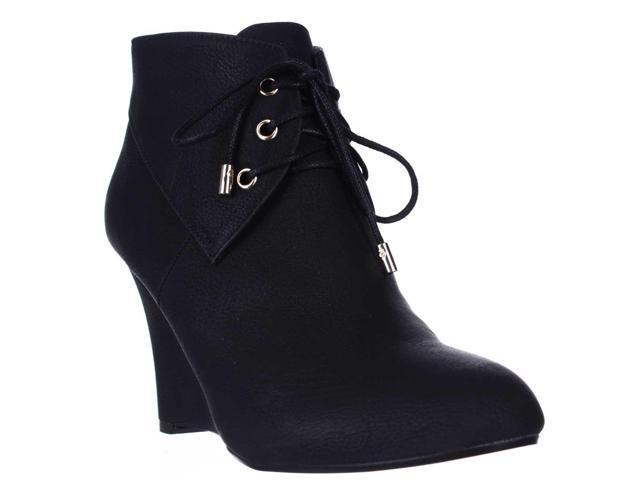 TS35 Noa Wedge Ankle Boots - Black