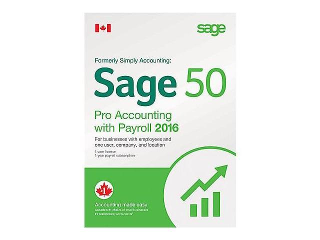 Sage 50 2016 Professional Accounting with Payroll (Bilingual)
