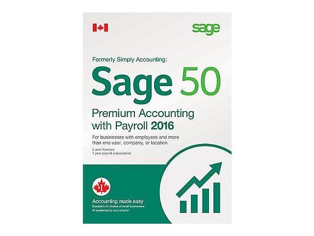 Sage 50 2016 Premium Accounting with Payroll (Bilingual)