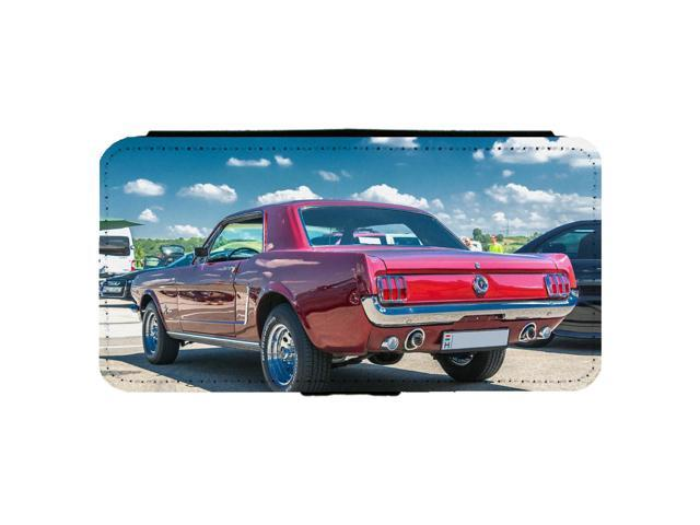 1965 Ford Mustang Fastback Classic Car Apple iPhone 6 / 6S Leather Flip Phone Case