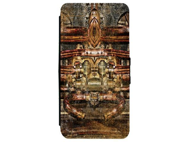 Steampunk Copper Gears Tubes Pipes Apple iPhone 6 Plus / 6S Plus Leather Flip Phone Case
