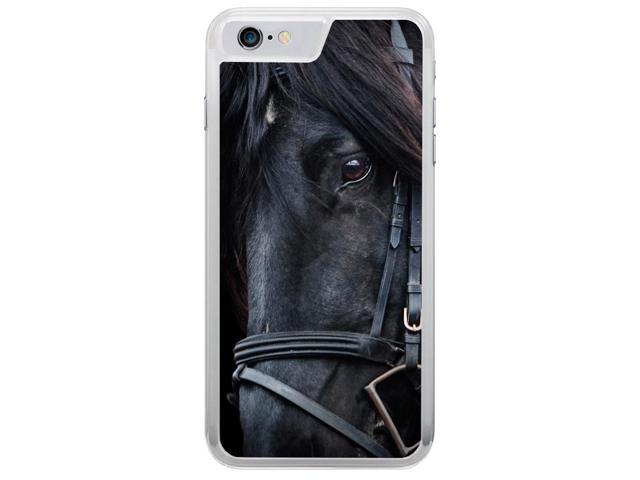 Black Horse with Black Mane in Gear Apple iPhone 7 Phone Case