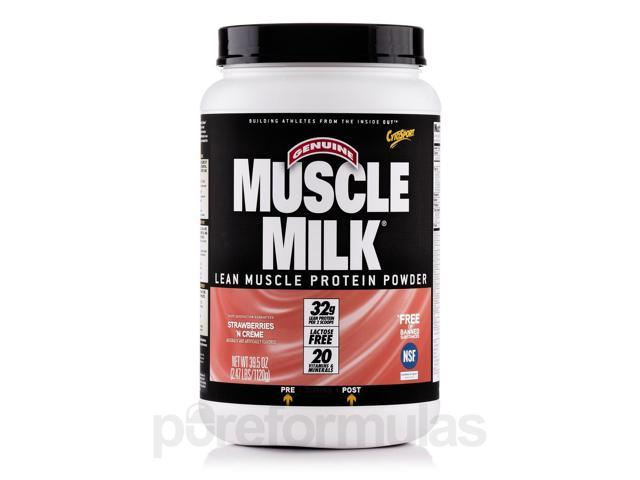 Muscle Milk Strawberries 'n Creme - 2.47 lbs (39.5 oz / 1120 Grams) by CytoSport