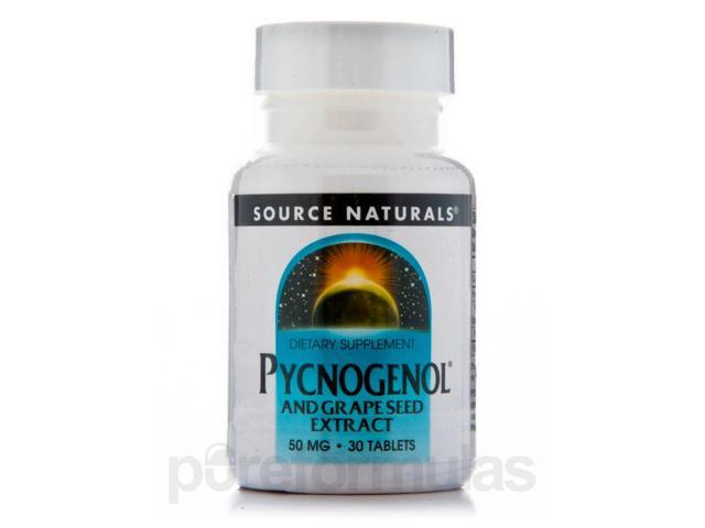 Pycnogenol & Grapeseed 50 mg - 30 Tablets by Source Naturals