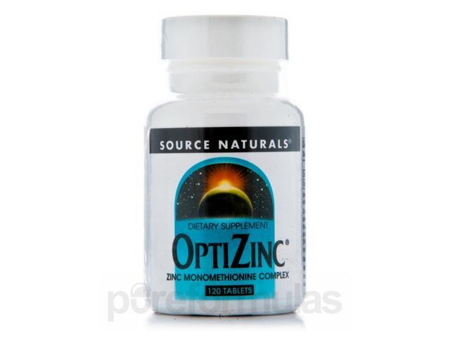 Optizinc Monomethionine - 120 Tablets by Source Naturals