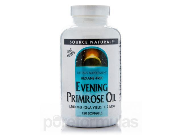 Evening Primrose Oil 1,350 mg - 120 Softgels by Source Naturals