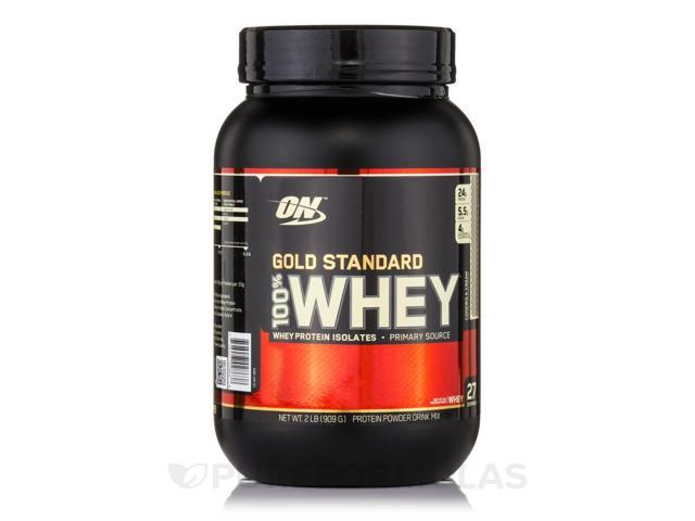Gold Standard 100% Whey Cookies and Cream - 2 lb (909 Grams) by Optimum Nutriti