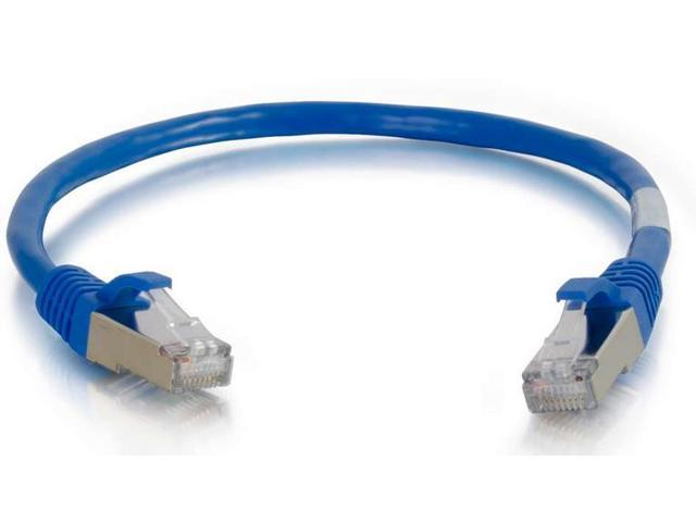C2G 14FT CAT6  SNAGLESS SHIELDED (STP) NETWORK PATCH CABLE - BLUE