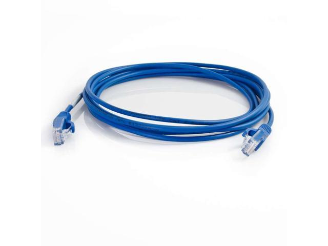 C2G 01072 1 ft. Cat 6 Blue SNAGLESS UNSHIELDED (UTP) SLIM NETWORK PATCH CABLE