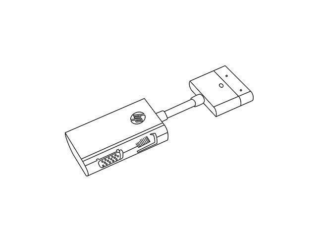 HP Dock Connector to Ethernet & VGA Adapter