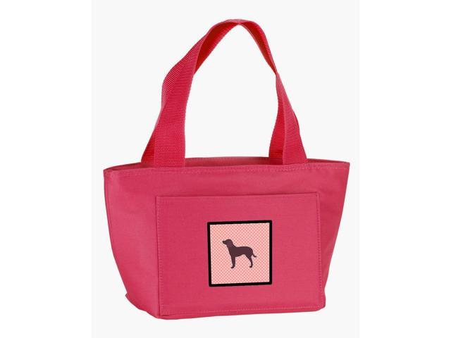 American Water Spaniel Checkerboard Pink Lunch Bag BB3601PK-8808