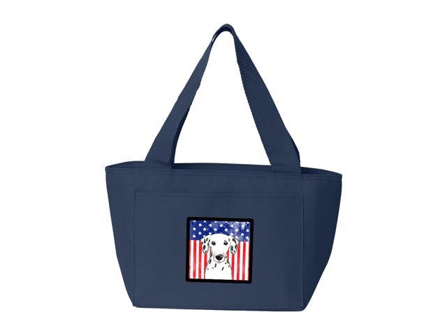 American Flag and Dalmatian Lunch Bag BB2140NA-8808