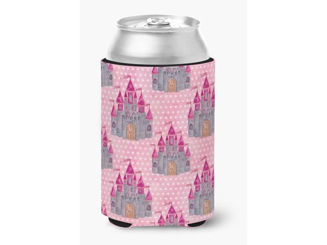 Watercolor Princess Castle Can or Bottle Hugger BB7549CC