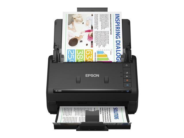 epson® workforce es-400 duplex color document scanner for pc and