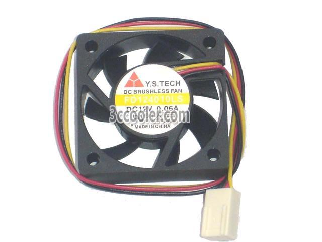 Y.S.Tech 4010 40*10mm FD124010LS 12V 0.06A 3 Wires 3 Pins Case fan 4cm mini cooler for switch