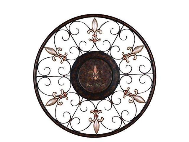 Metal Wall Plaque With Eye Catching Decor Appeal by Benzara