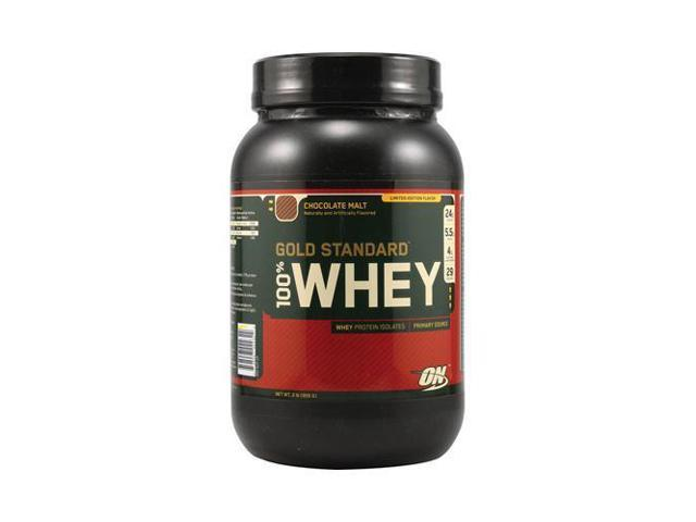 100% Whey Protein, Chocolate Malt, 2 lbs Gold Standard Protein From  Optimum Nutrition