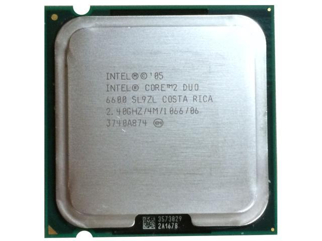 Refurbished: Intel Core 2 Duo Dual-Core Processor E6600 2.4 GHz 4M L2 Cache LGA775 desktop cpu ...