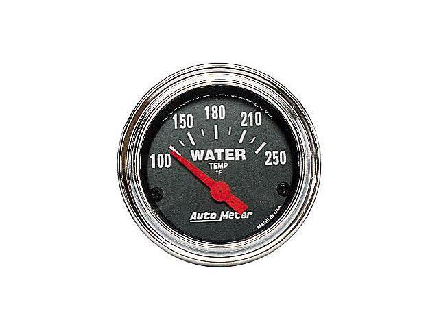 Auto Meter Traditional Chrome Electric Water Temperature Gauge
