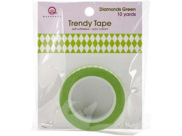 Queen & Co. Trendy Tape-Diamonds Green