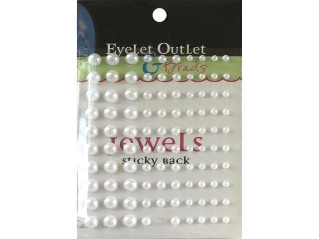 Bling Self-Adhesive Pearls Multi-Size 100/Pkg-White