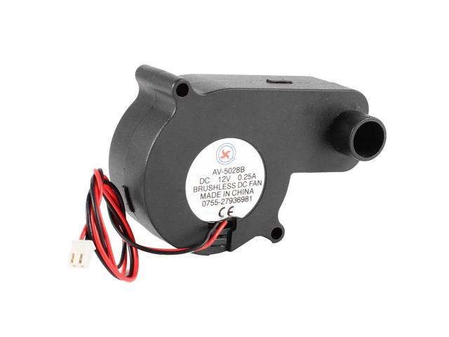 SODIAL Laptop 2 Terminals CPU Cooler Cooling Blower Fan 12VDC 0.25A Black