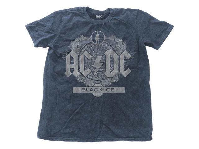 AC/DC Men's Black Ice Vintage T-shirt Large Denim
