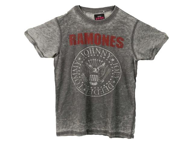 Ramones Men's Presidential Seal Vintage T-shirt Large Charcoal