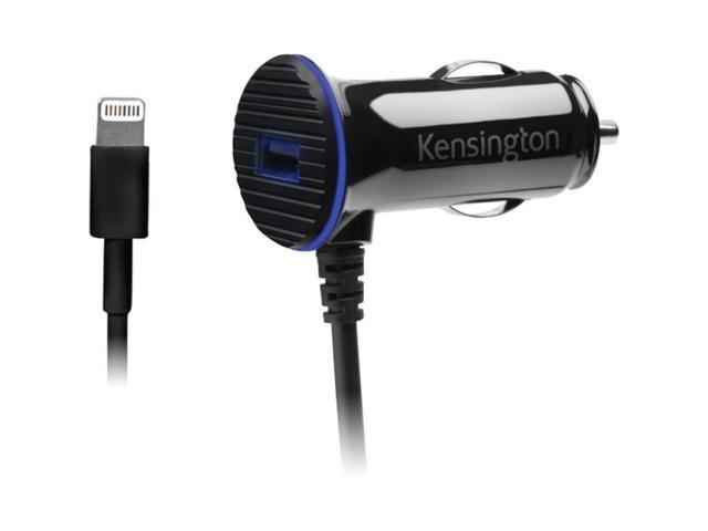 Kensington PowerBolt��� 3.4 Dual Fast Charge Car Charger with Lightning��� Cable