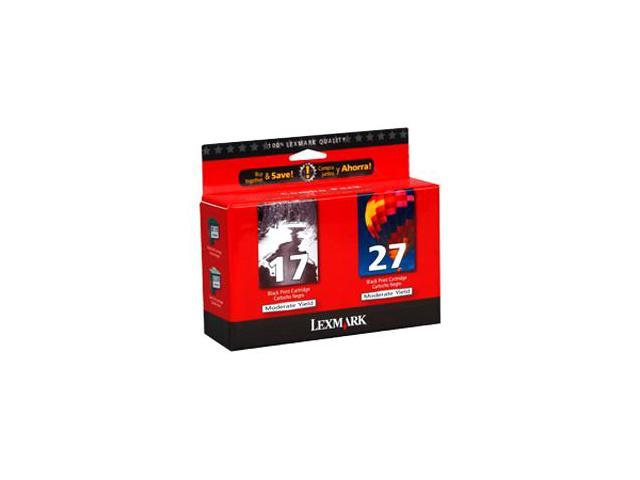 Lexmark No. 17/27 Black and Color Moderate Use Ink Cartridge