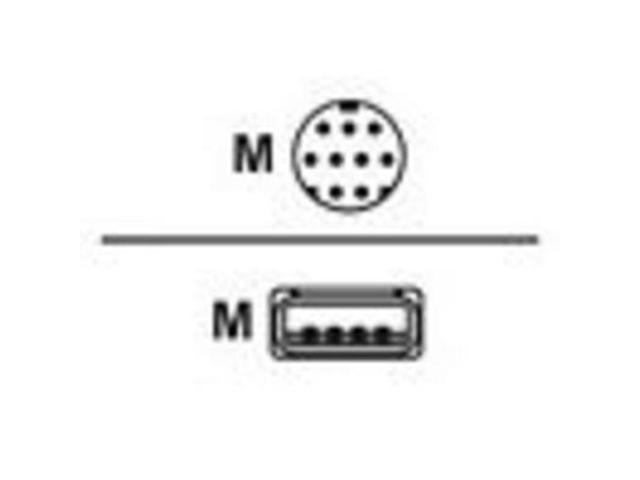 MagTek 22517583 6 ft. Black 6Ft 9-pin mini-DIN Male, 4-pin USB Type A Male