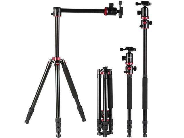 K&F Concept TM2534T Magnesium Aluminum Alloy  DSLR Camera Tripod & Monopod w/ Ball 360 Degree Head + 4 Sections + Load Capacity 8KG for Nikon Sony Pentax Canon  DSLR Cameras