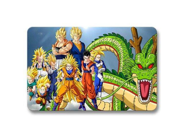 Doormat dragon ball z non skid floor bathroom pattern for Dragon ball z bathroom