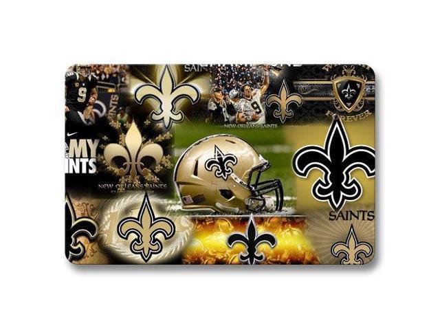 New Orleans Saints Foot Mats Office Bath Door Mat Non Skid Perfect 18 X 30