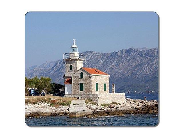 Lighthouse Natural Stone : Stone lighthouse world art natural eco rubber mousepad