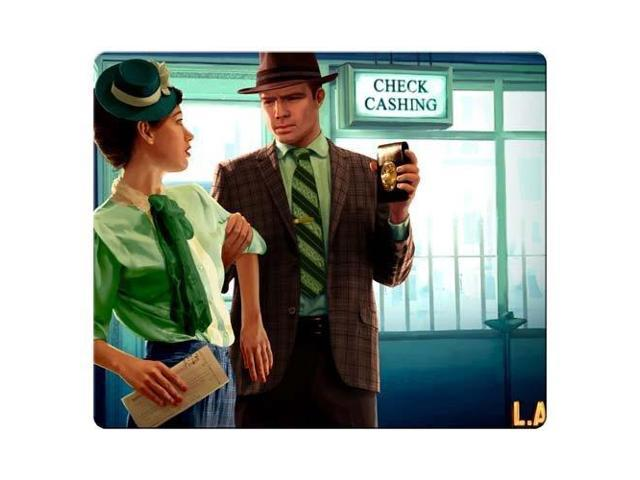 game mousemat rubber & cloth stain and water resistant Personality L.A. Noire 9