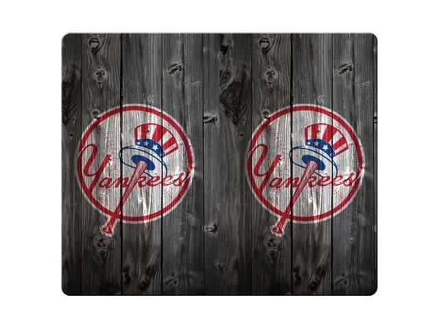 Mouse Pads cloth / rubber Rubber Backing Durable new york yankees wooden hd 8