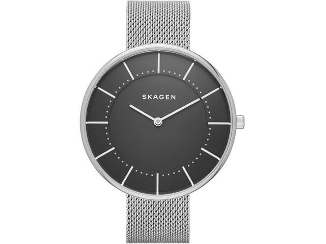 SKAGEN WOMEN'S 38MM STEEL BRACELET & CASE QUARTZ BLACK DIAL WATCH SKW2561