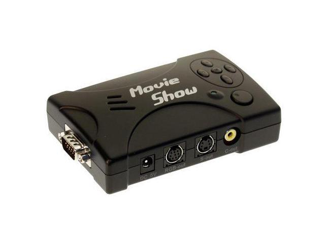 Coolgear MovieShow PC to TV Converter - Convert any HD-15 Video to standard S-Video Composite