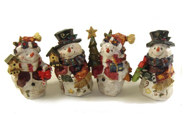 Club Pack of 48 Folk Art Snowman Table Top Decorations 5