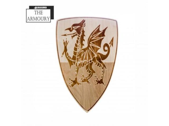 Tudor Welsh Dragon Etched Shield MINT/New