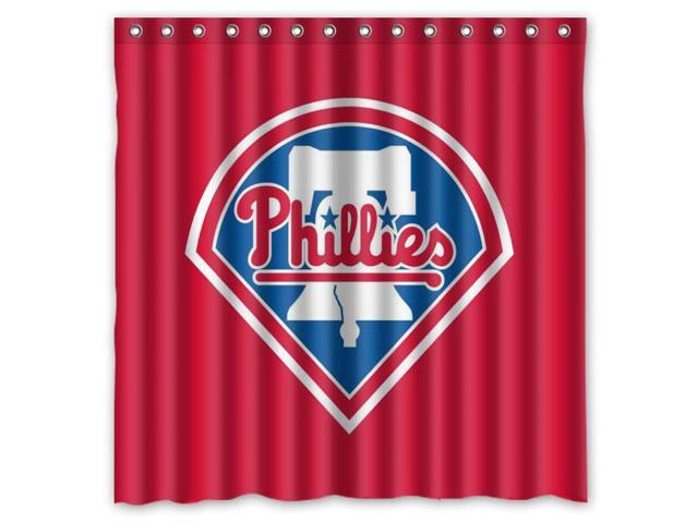 Philadelphia Phillies 03 MLB Design Polyester Fabric Bath Shower ...