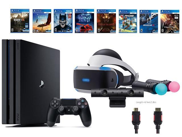 playstation vr deluxe bundle 12 items ps4 pro 1tb vr. Black Bedroom Furniture Sets. Home Design Ideas