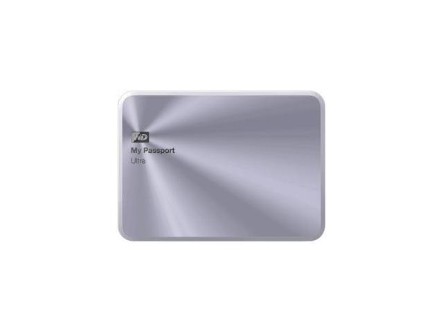 WD 3TB My Passport Ultra Metal Edition Portable External Hard Drive USB 3.0 Model WDBEZW0030BSL-NESN Silver