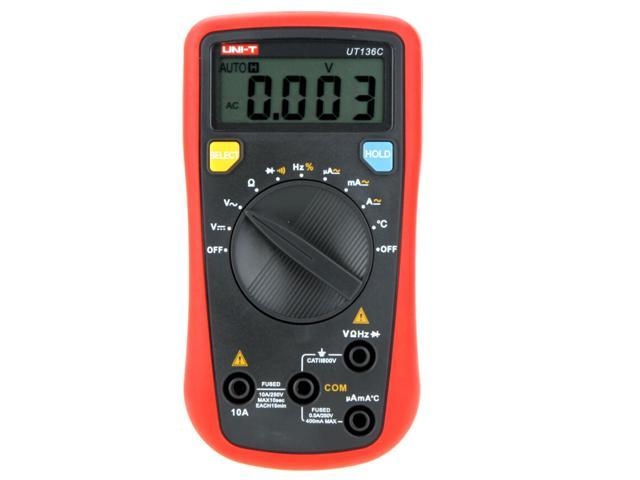 UNI-T UT136C Handheld Auto-ranging Digital Multimeters Max. Display 3999 UT-136C