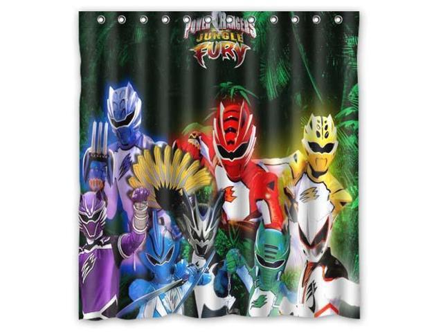 Fashion Design Power Rangers Bathroom Waterproof Polyester Fabric Shower Curtain With Hooks 66