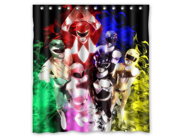 Power Rangers Waterproof Shower Curtain High Quality Bathroom Curtain With Hooks 66
