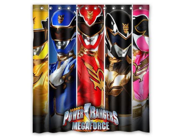 Eco-friendly Waterproof Shower Curtain Power Rangers Bathroom Polyester Fabric Shower Curtain 66