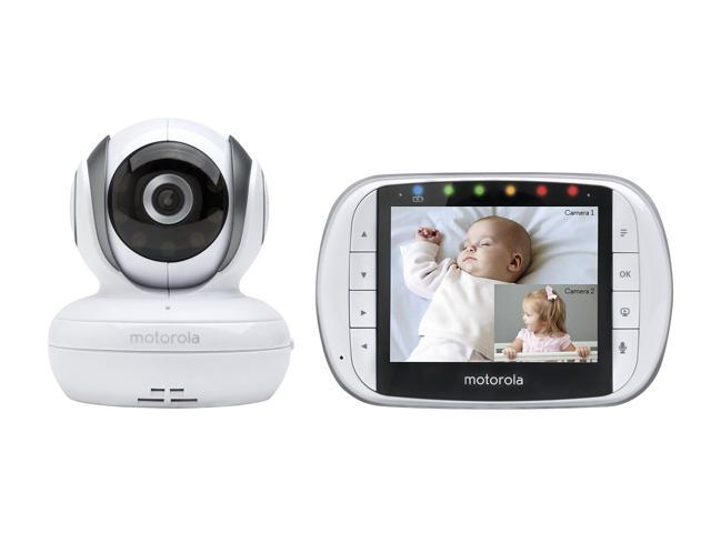 motorola mbp36s remote wireless video baby monitor with 3 5 inch color lcd screen remote camera. Black Bedroom Furniture Sets. Home Design Ideas