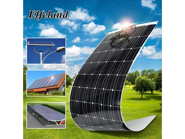 Elfeland 200w 18v A Class Semi Flexible Solar Panel Off